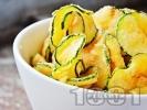 Рецепта Хрупкави пържени тиквички с панировка от галета и брашно
